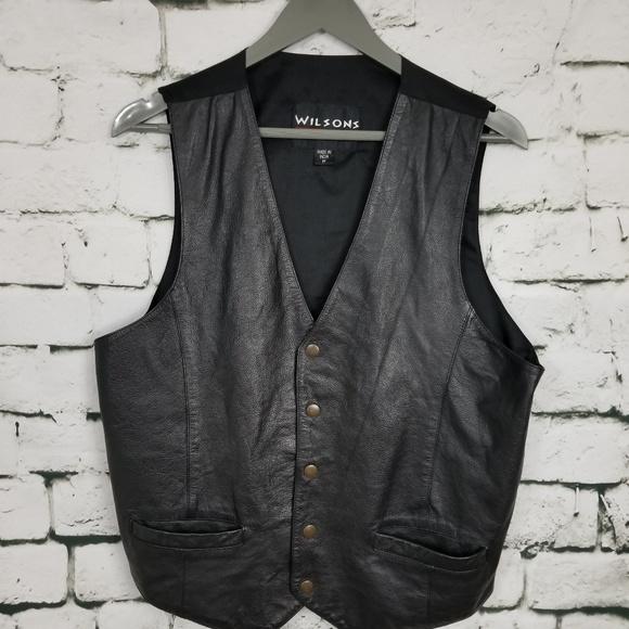 Wilsons Leather Other - Wilsons Black Leather Vest Medium